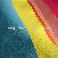 PU Garment Leather Polyester Stretch Fabric To Make Blazer/Jacket(cuerina sitetica)