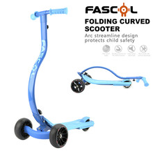 China supplier New arc C shape kids folding scooter / Flashing 3 wheel baby scooter / cheap kids scooter for sale