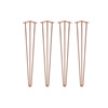 Furniture accessories golden metal simple 3rod gold hairpin table legs
