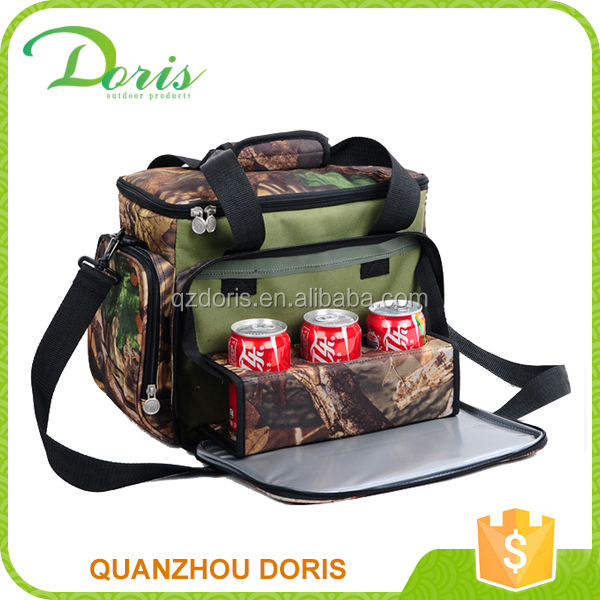 detachable camouflage insulated beer cooler bag