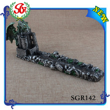 SGR142 Gargoyle Incense Stick Holder Medieval Gothic Dragon Sculpture Incense Burner