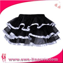 New arrival beautiful black and white striped skirt