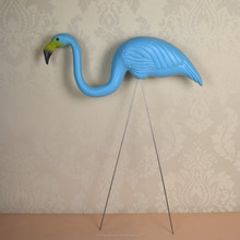 "plastic light blue flamingo garden,yard and lawn art ornament wedding ceremony decoration with 31"" height"