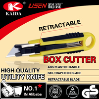 carton opener box cutter auto retractable safety utility knife