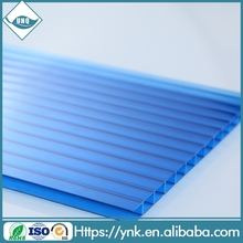 new products 2016 Good Light Transmission blocks uv rays polycarbonate hollow sheet