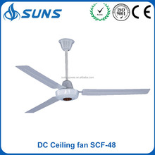 Fancy battery powered operated big antique inverter rechargeable remote control Solar DC motor 12V rotating ceiling fan