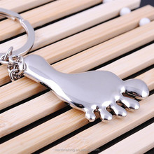 Newest little feet metal alloy keychain car key chain key ring buckle