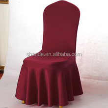 Wedding Banquet Elastic Spandex Pleated Chiar Skirt Style Chair Covers