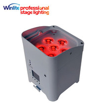 most popular led 4 x 15w uplights RGBWA+UV Rechargeable wireless dmx battery powered stage led par lights