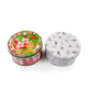 2018 New Design Christmas Round Cookie Tin Box