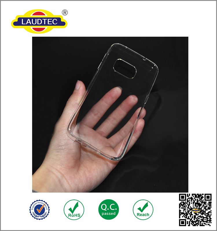 New model Crystal TPU Gel Transparent Soft Silicon Case for Samsung S7 Cover ----- Laudtec