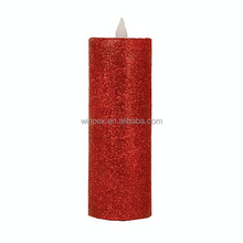 Sparkling Glitter LED Pillar Candles Christmas Candles