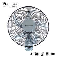 "5 AS blades 16"" Oscillating Wall Mounted Wall Fan with 3-Speed and Low Noise"
