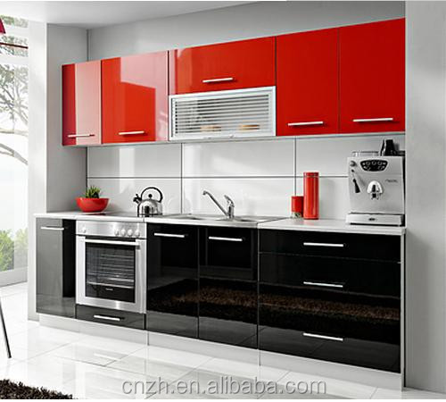 high glossy lacqure fiber waterproof kitchen cabinet (customized )
