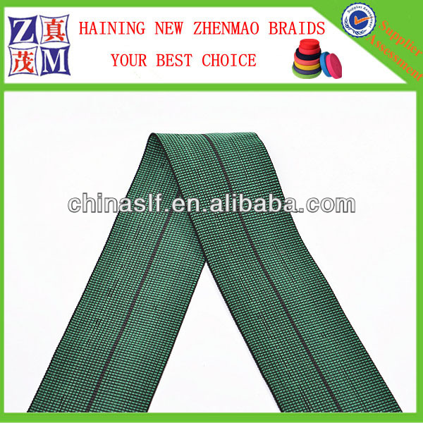 fabric elastic band sofa elastic belt with PE PP and rubber or latexes