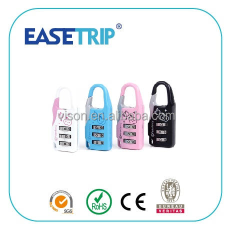 Luggage password lock/Mini luggage padlock/Child travel suitcase lock