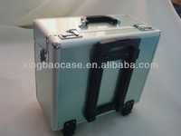 Aluminum trolley pu leather luggage case luggage hardware,trolley business case,professional cosmetic trolley cases