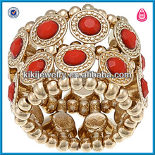 Funny indian style red turquoise diamond engagement ring