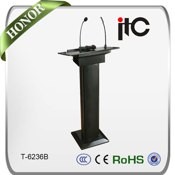 ITC T-6236B All in One Conference Lectern Podium with wireless microphone