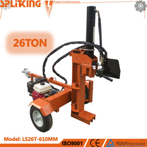26Ton 610MM European Market Two Handles Control Automatic Return Euro Type Hydraulic Log Splitter wholesale