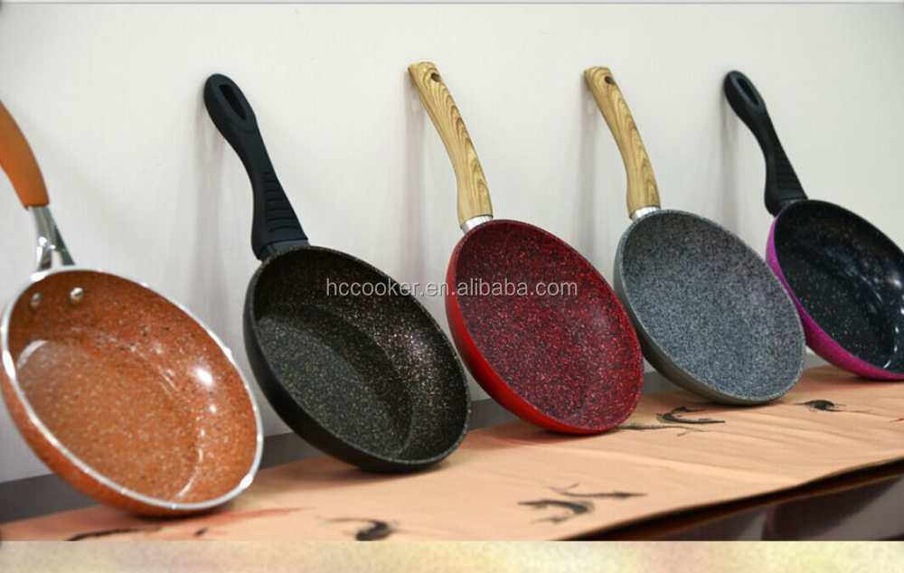 hot sale forged marble coating aluminium non-stick frypan