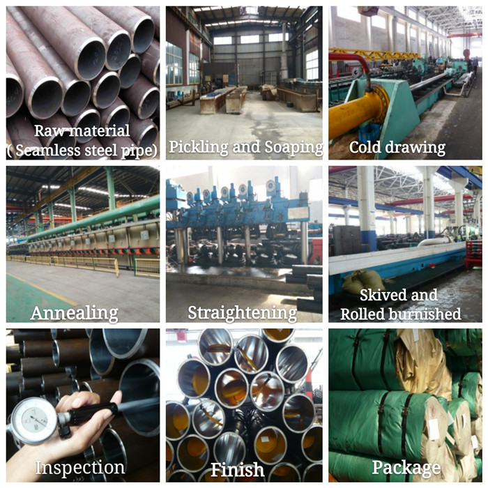 High quality ST52 hydraulic honed steel tube