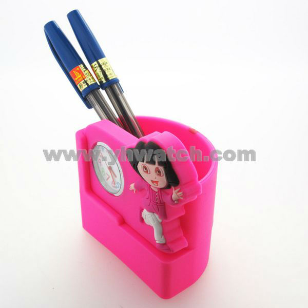 pen holder office gift silicone kid branded watch 2013 new