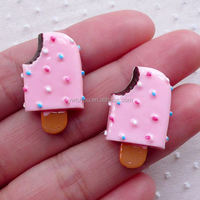 New coming different types ice cream shape deco resin fast shipping