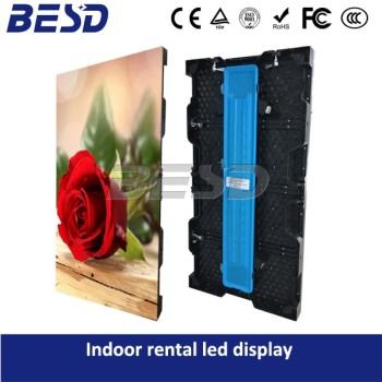 Best selling rental screen Indoor Ultra Light LED Display full color Video wall P3.91&p4.81 cabinet size 500mm x 1000mm
