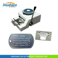 2015 New JX52D English codes manual military metal dog pet id tag embossing machine engraving making machine