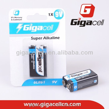 Hot sales! New sell-point! Super alkaline battery in blister package /6LR61 alkaline battery