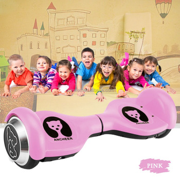 Hot sale 2016 kids self balancing electric scooter 2 wheel Ancheer plum round US plug 4.5 Inch AM002550