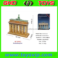 Brandenburg Gate building 3d paper model puzzle world famous building paper 3d puzzle making paper craft diy 3d puzzle
