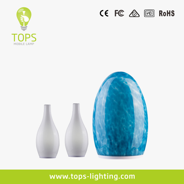 Led candle lamp , Glass dining lamp ,Rechargeable cordless table lamp