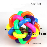 Factory direct attractive design puppy knitted ball, training toy dog cage toy