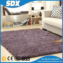 Plain Hand Tufted Casino Style Shaggy Carpets Polyester Rug With Lowest Price