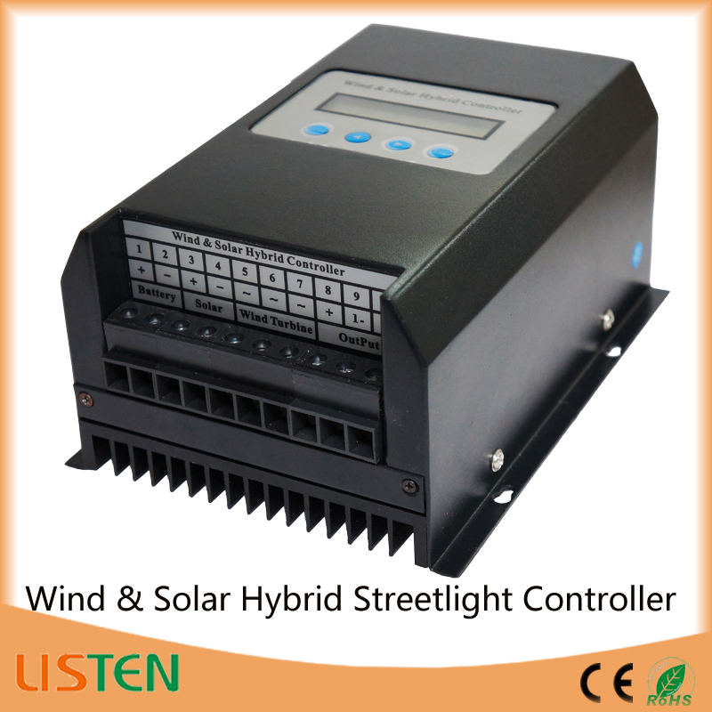 wind solar power system new energy 48V 300W wind solar charge controller with CE ROHS LCD display China factory's sales