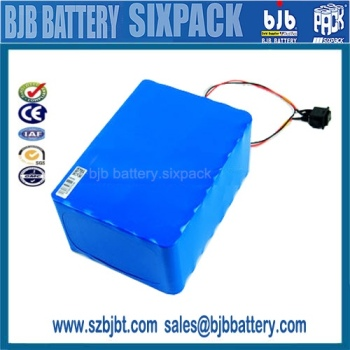 Rechargeable 18650 li-ion 13S20P 48 volt lithium battery for Electric Vehicle, (E-bike), golf cart customized
