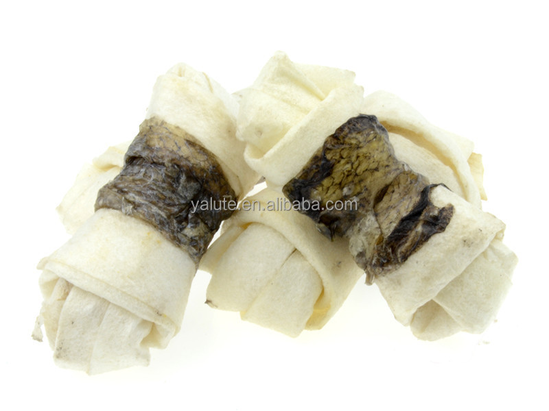 wholesale dog snack fishskin wraps rawhide bones