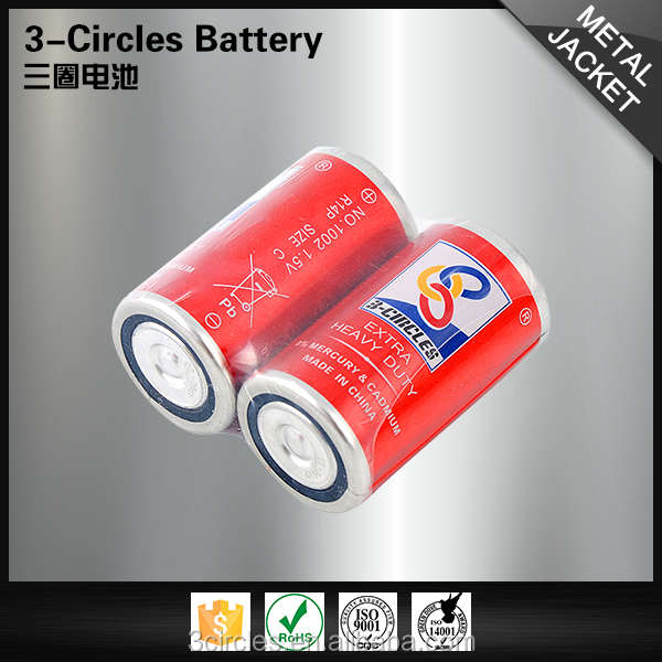 Carbon zinc dry cell 1.5v r14 c size um2 batteries