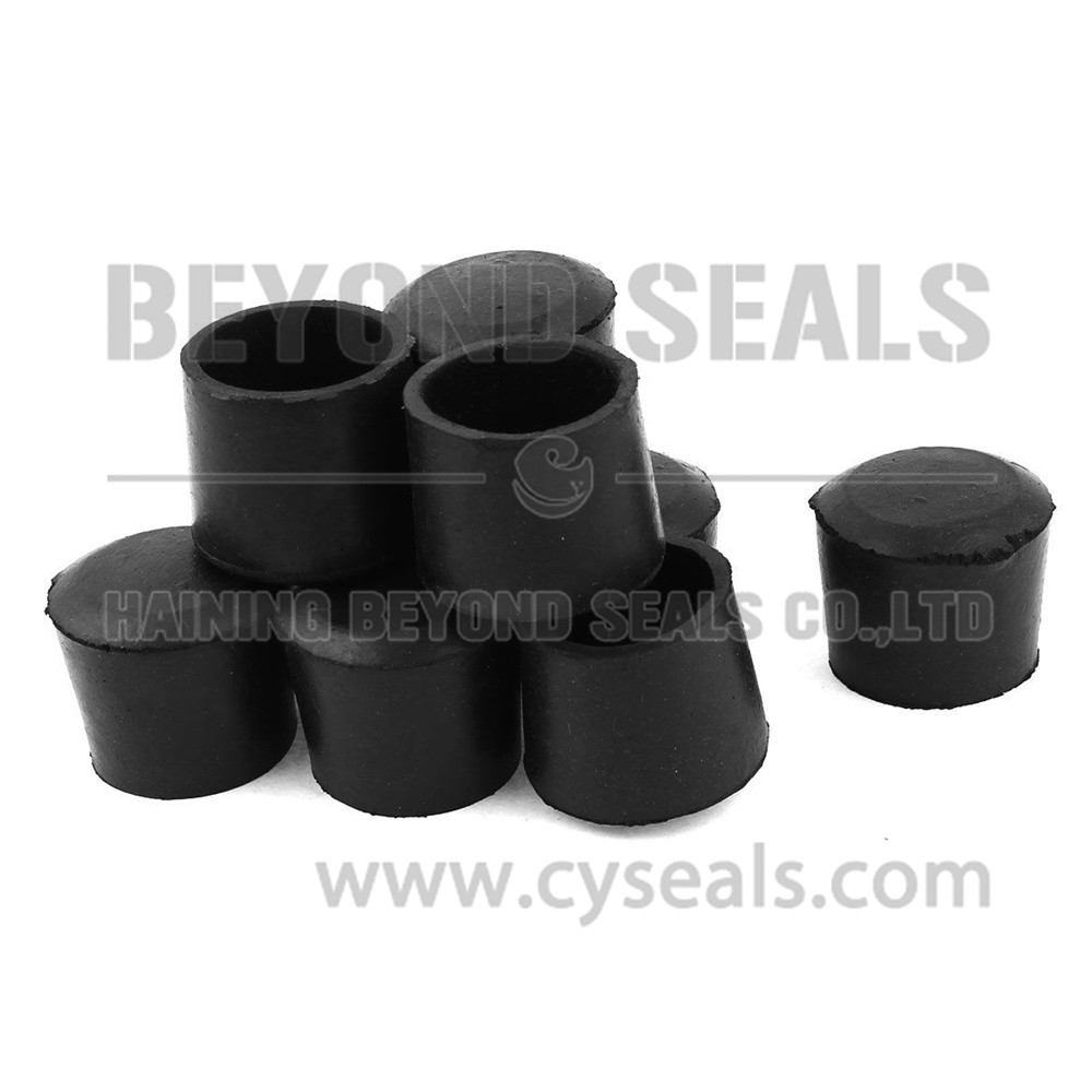 Rubber end caps view beyond seals