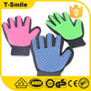 dog deshedding tool pet washing gloves