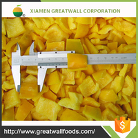 Grade A iqf sweet yellow pepper