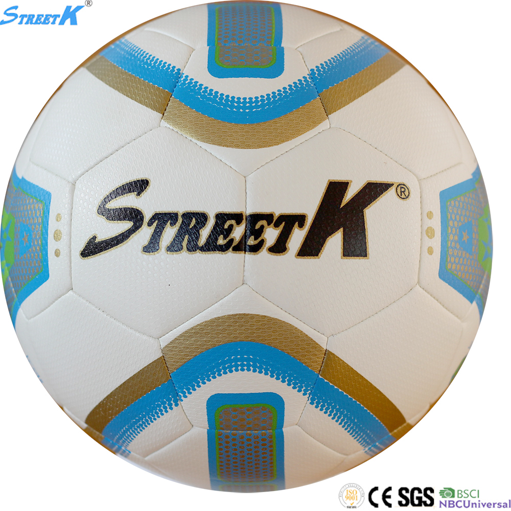 2016 Streetk brand soccer ball size 5 manufacture wholesale pakistan pu football