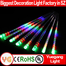 50cm 8tubes/set outdoor christmas led falling snow lights led meteor shower light led meteor shower light