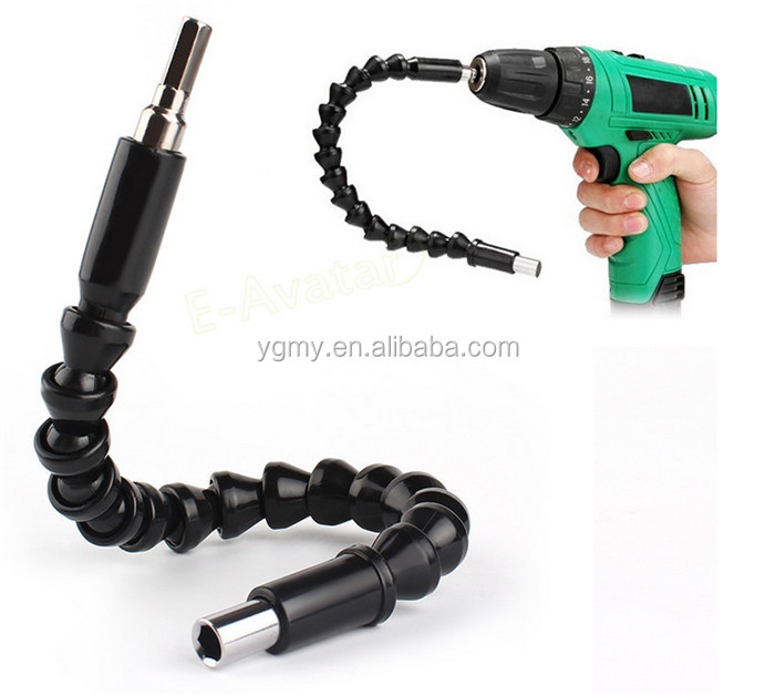 Black 295mm Flexible Shaft Bits Extention Screwdriver Bit Holder Connect Link For Electronics Drill