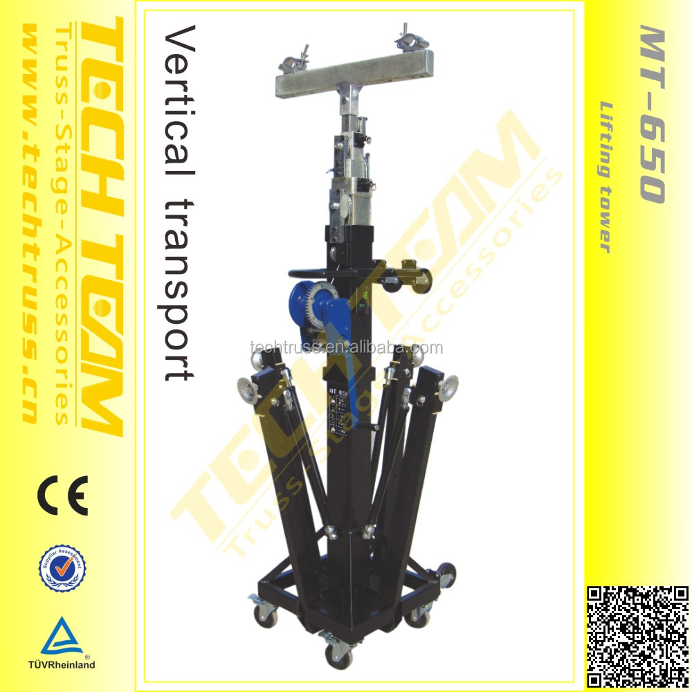 MT-650 truss Lifting tower, crank stand for event lighting truss