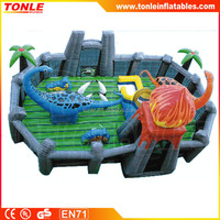 Jurassic park Adventure theme inflatable playground/ fun city toddler town/ activity center amusement game park