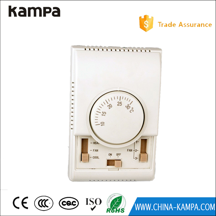 Manual reset mechaniacal thermostat for fan coil