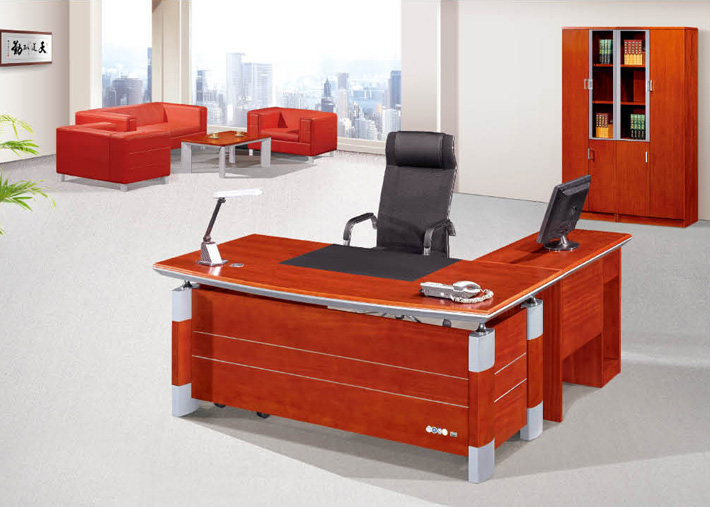2014 Modern cherry Wood Veneer employee table